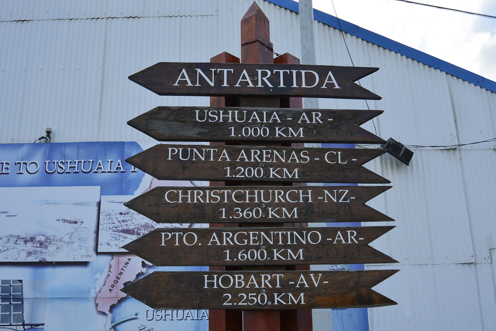 Ushuaia Argentina Sign Post