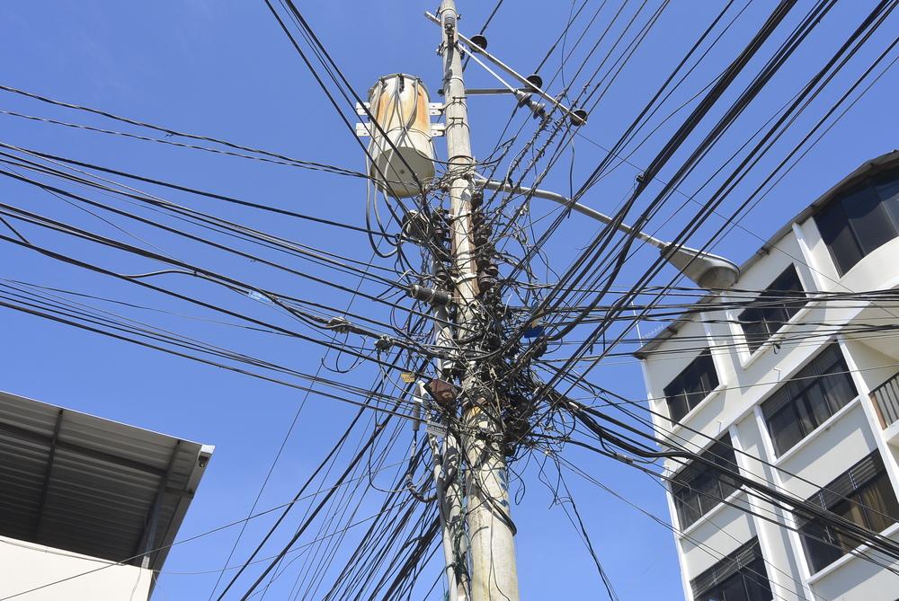 Manta Ecuador Power Lines Electricity