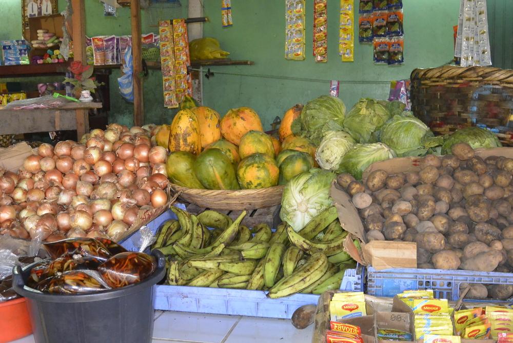 Corinto Nicaragua Street Market Fruits Vegetables