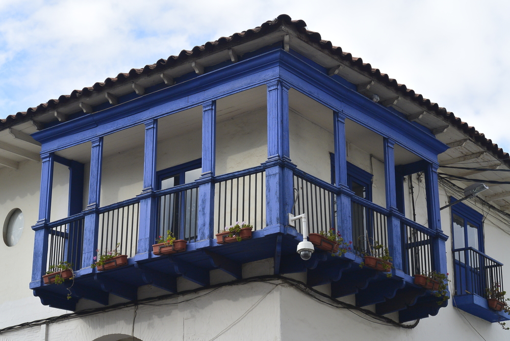 Cusco Peru Spanish Colonial House Balcony