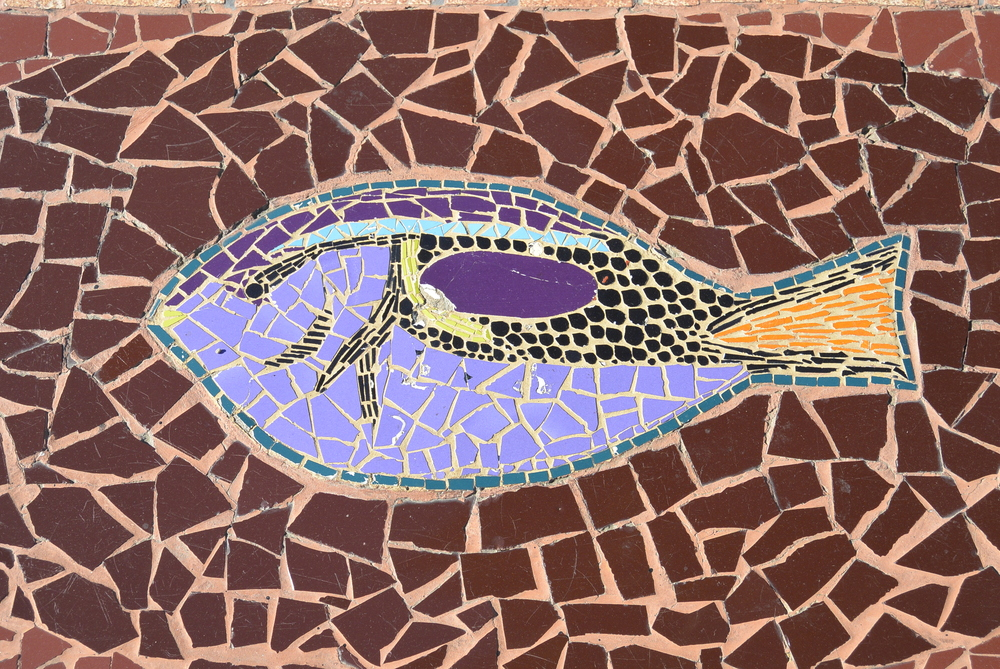 Valparaiso Chile Tiled Fish Art