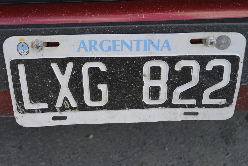 Ushuaia Argentina Car License Plate