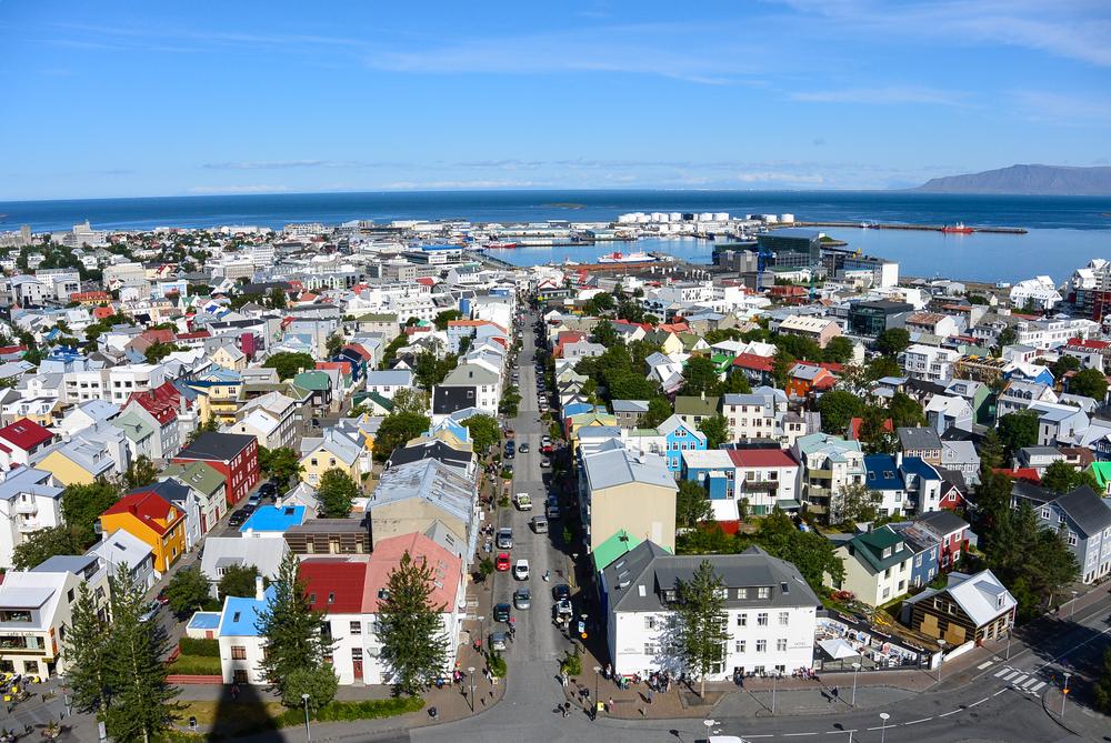 Hallgrímskirkja view on Reykjavik