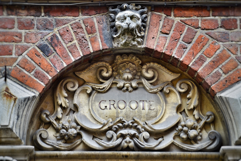 Groote Carved Stone Facade Bruges