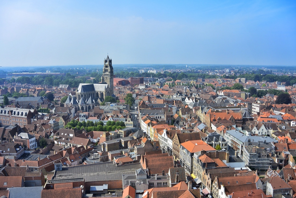 View from the Belfort Tower Bruges