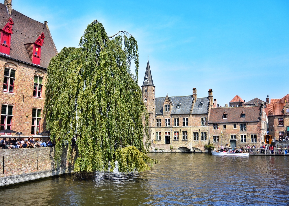 The most photographed spot in Bruges: Rozenhoedkaai