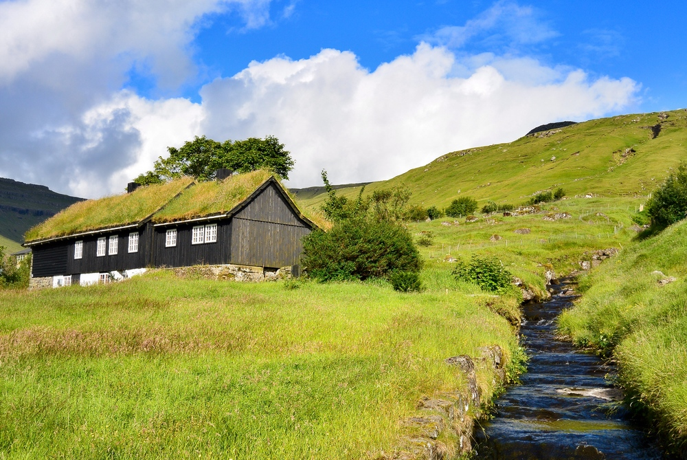 Turf Roof House Faroe Islands