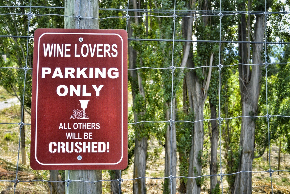 Wine Lovers Parking Only