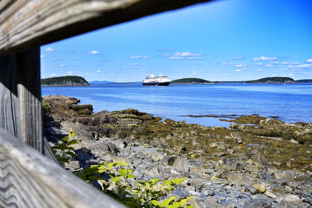 A cruise ship in Bar Harbor