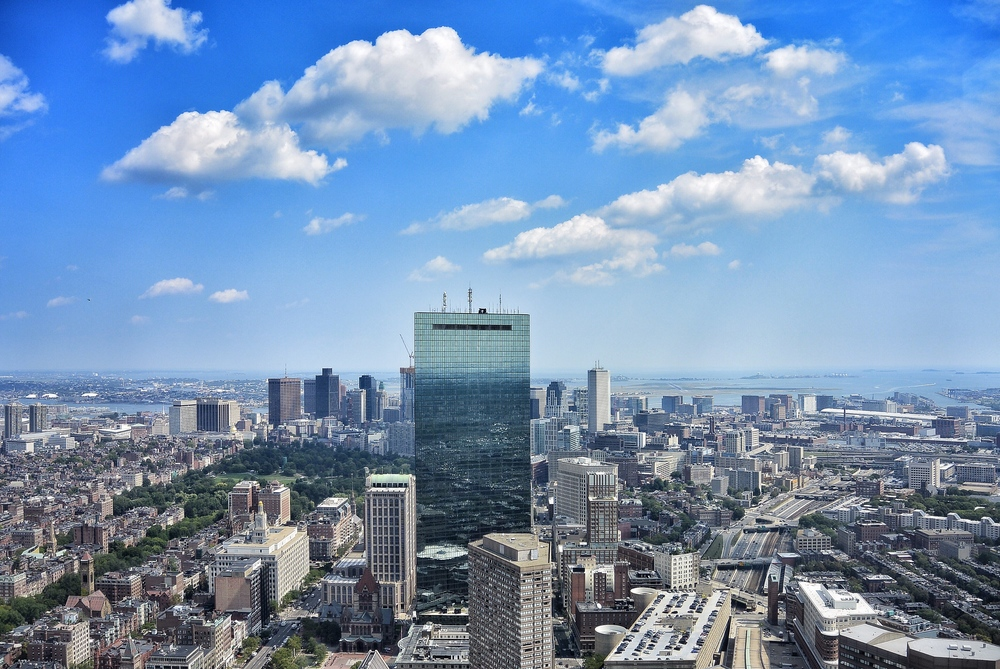 A view of Boston from the Prudential Tower
