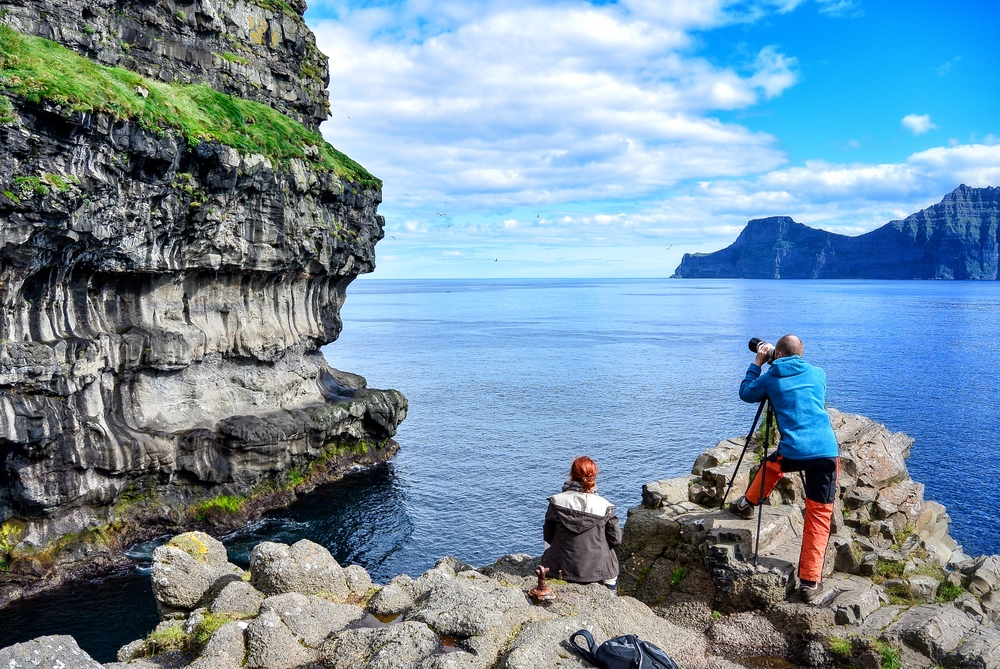 Bird watching on the Faroe Islands
