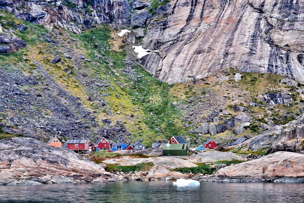 Tiny village in Prince Christian Sound