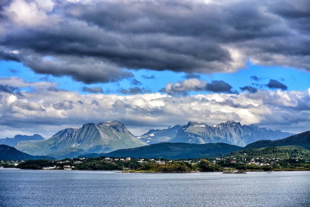 Ålesund mountain range in Norway
