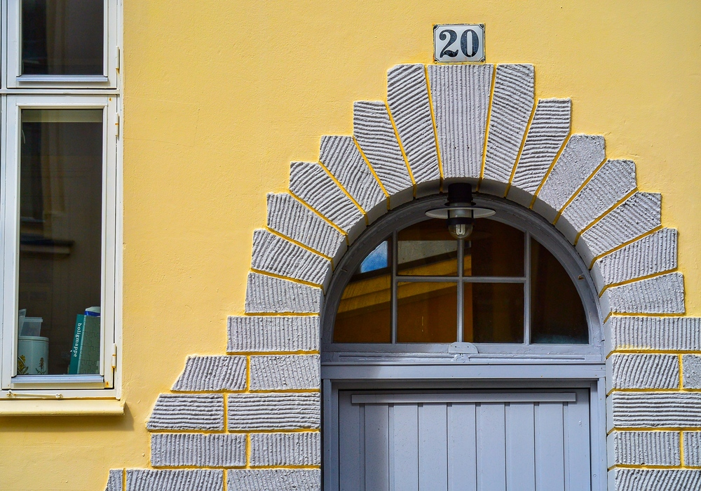 Unique doorway in Ålesund