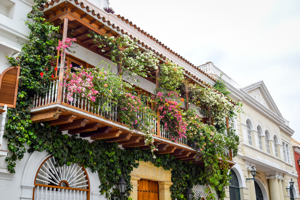 Blooming balcony in Cartagena