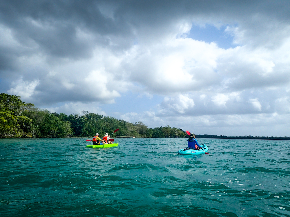 Kayaking in Laguna Bacalar