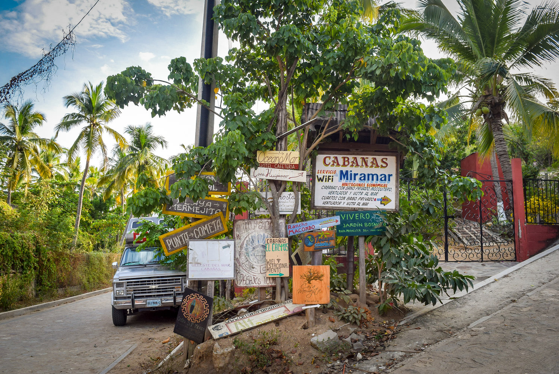 Signpost in Mazunte