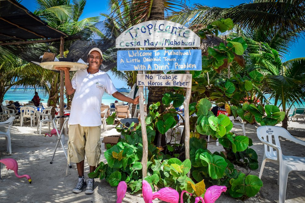 Friendly Mexican man in Mahahual