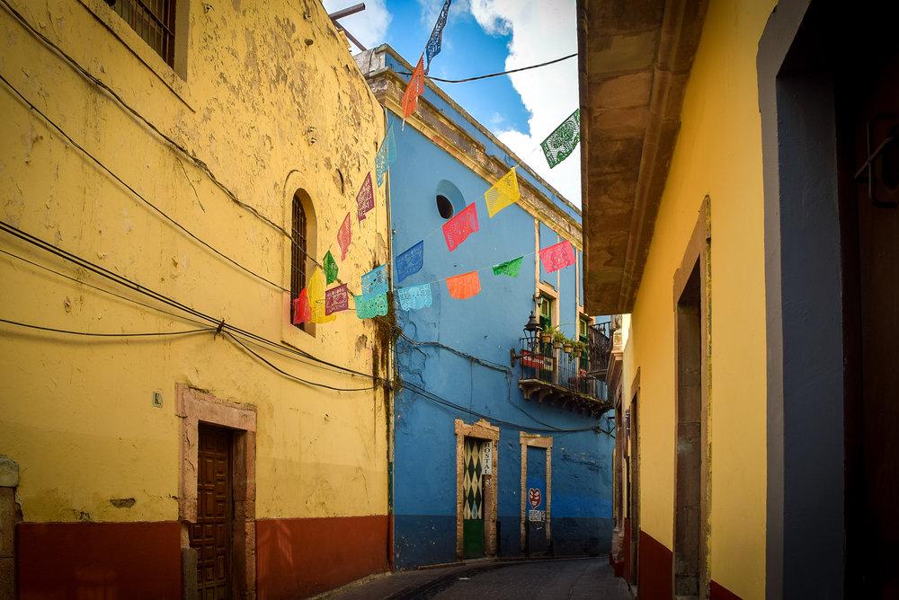Colorful Guanajuato street