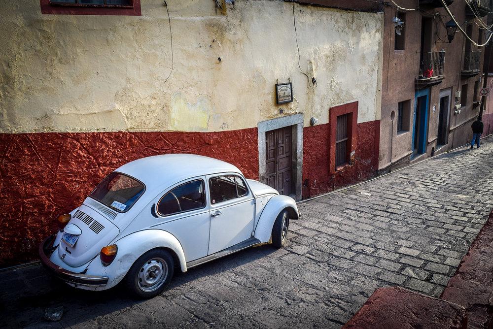 Old Volkswagen Beetle in Guanajuato