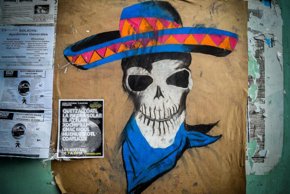 Skull street art