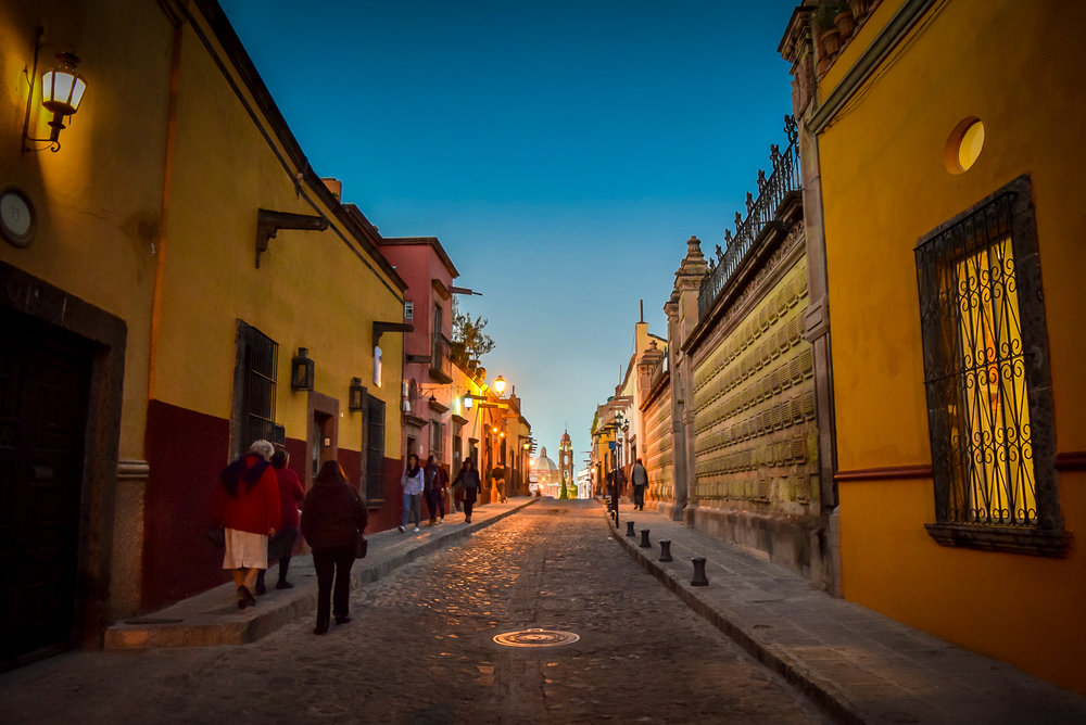 San Miguel de Allende at sunset
