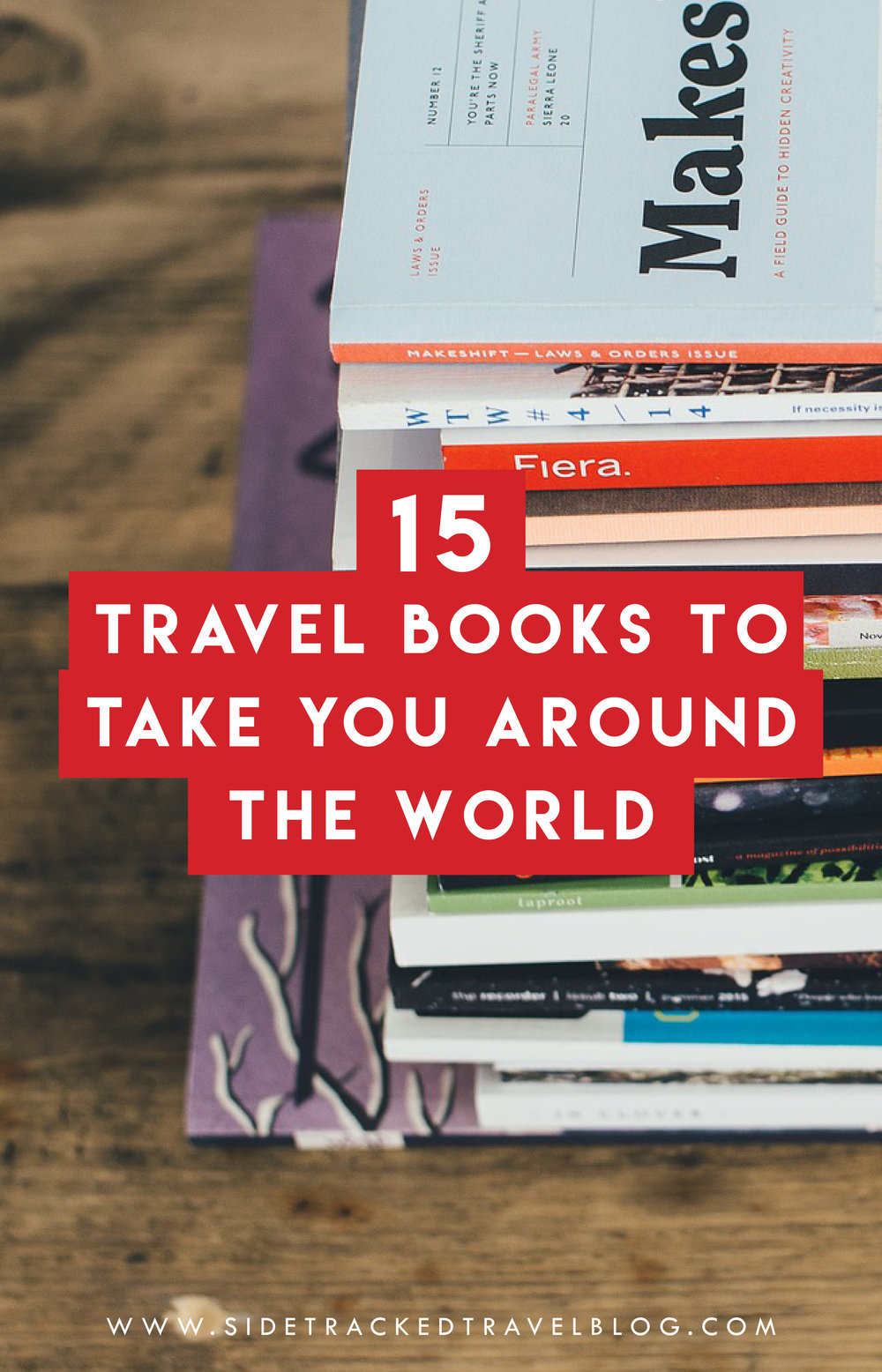 A list of 15 travel books to take you around the world even when you're not traveling. This list contains everything from intense historic expeditions to laugh-out-loud funny personal accounts to intimate memoirs.