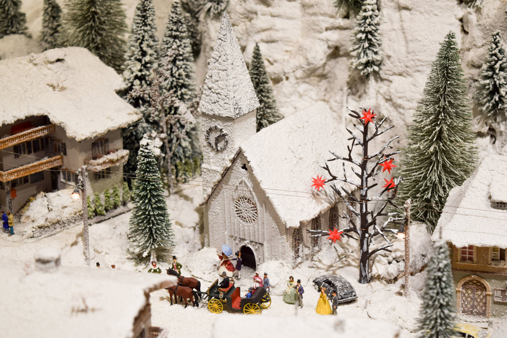 Winter scene at the Desert Model Railroad