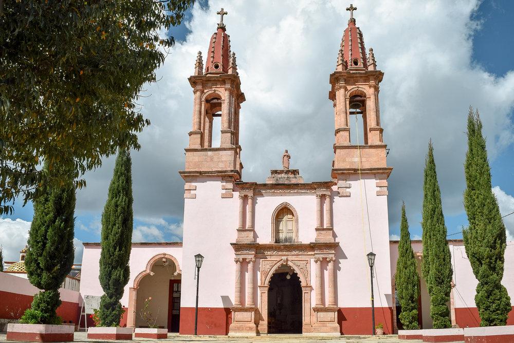 Church in Santa Rosa de Lima, Mexico