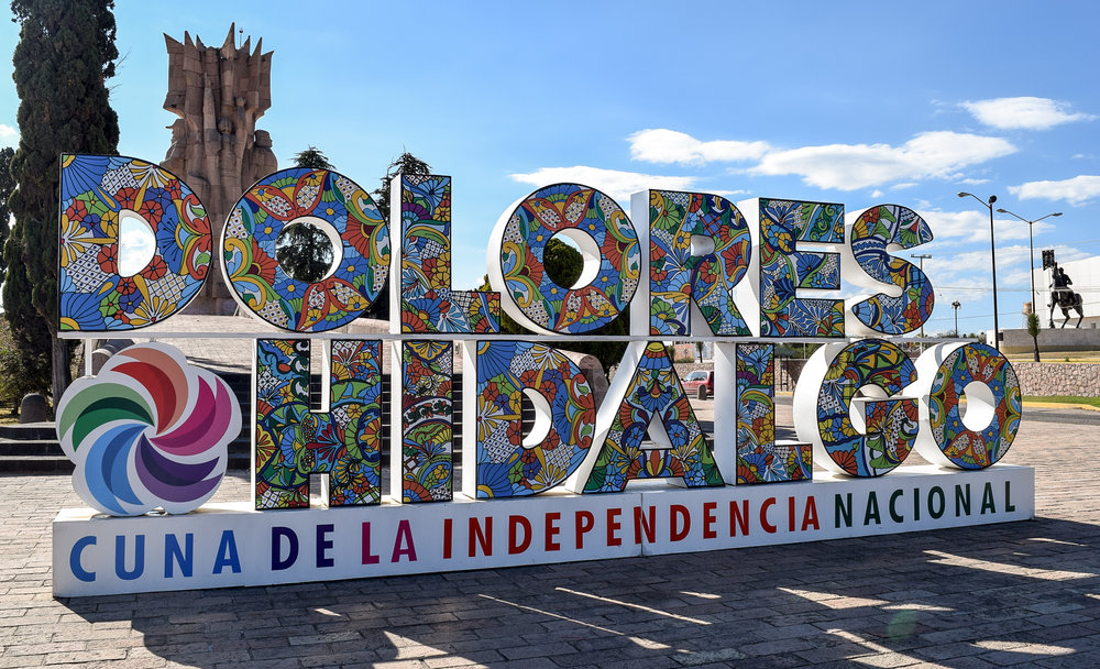 Colorful sign of Dolores Hidalgo