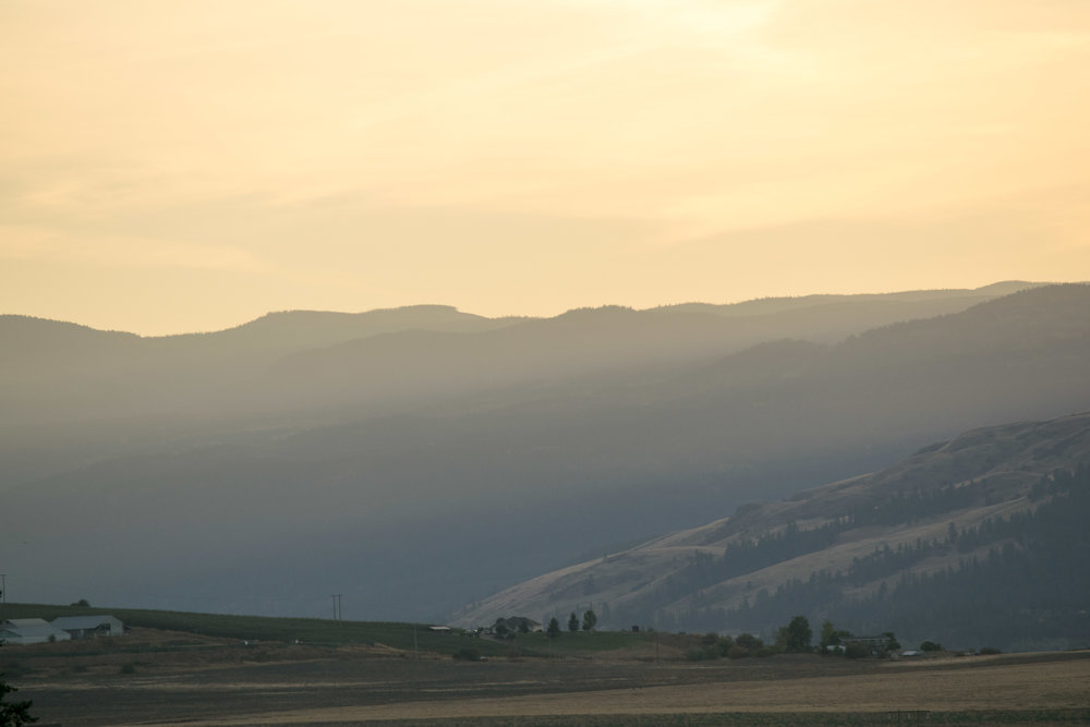 Sunset over the mountains in the Shuswap