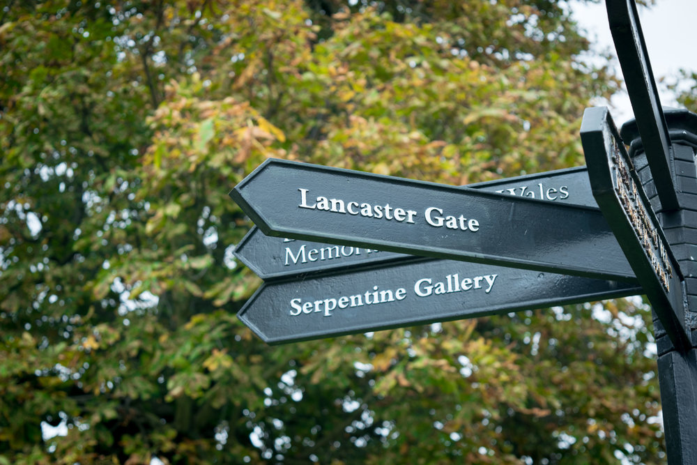 Hyde Park signpost