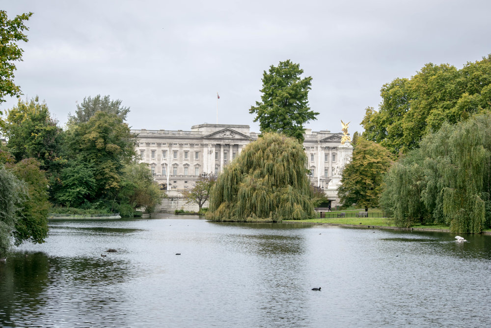 View of Buckingham Palace from St. James's Park