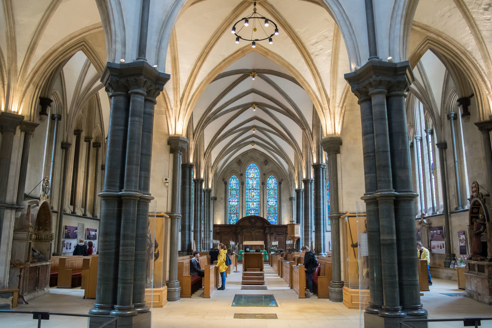 Interior of Temple Church