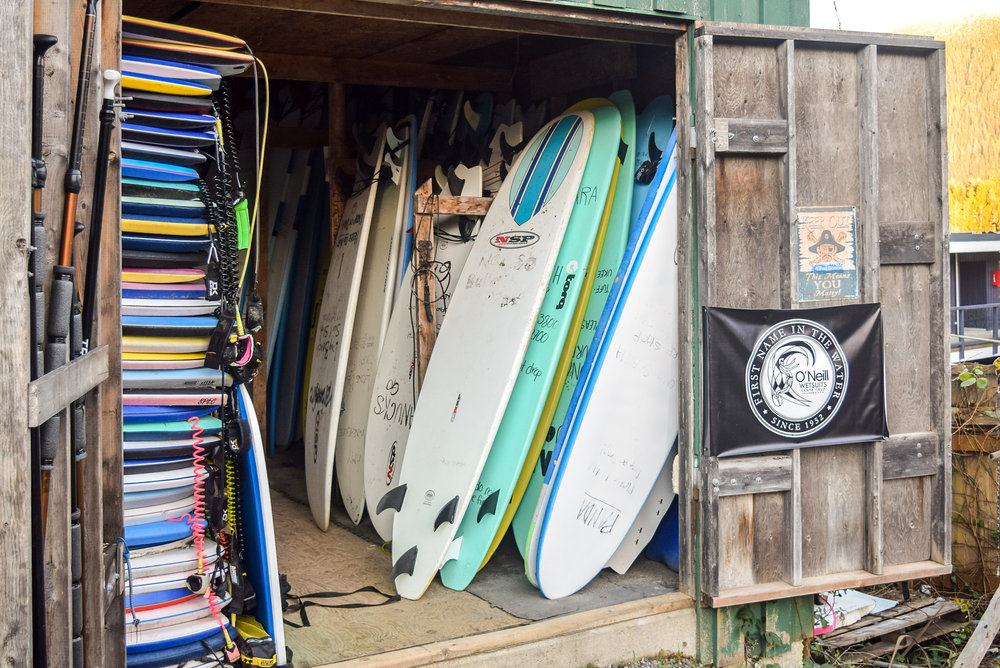 Surfboards in Tofino