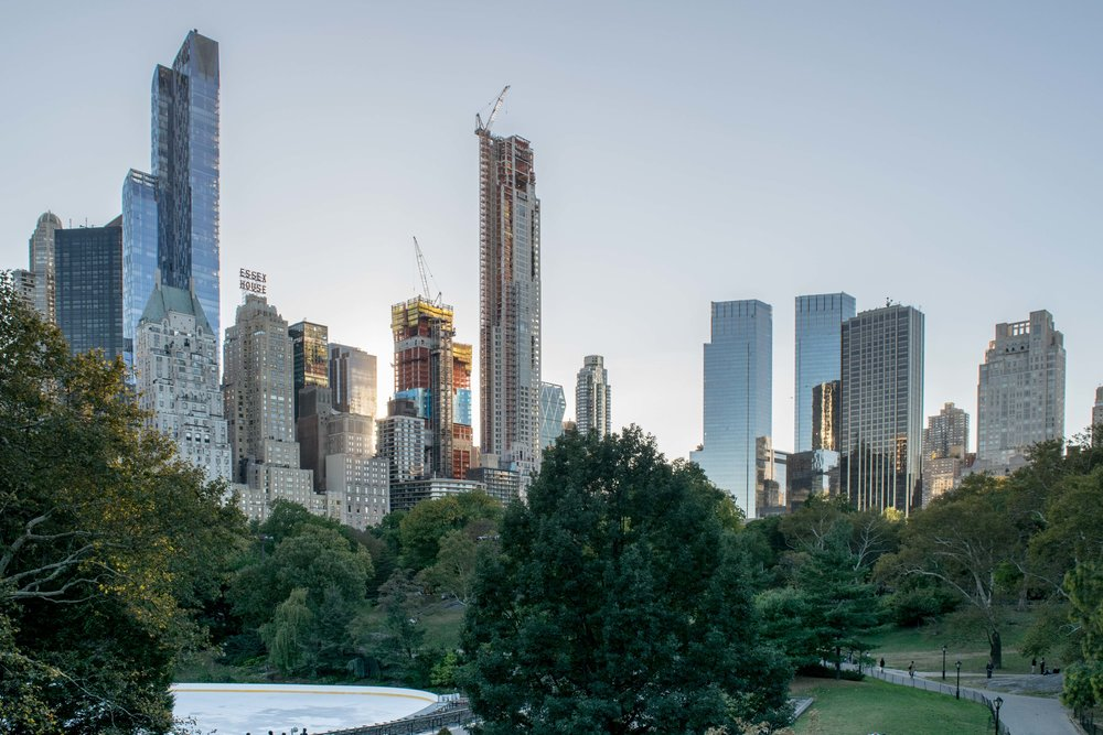 Manhattan skyline views from Central Park
