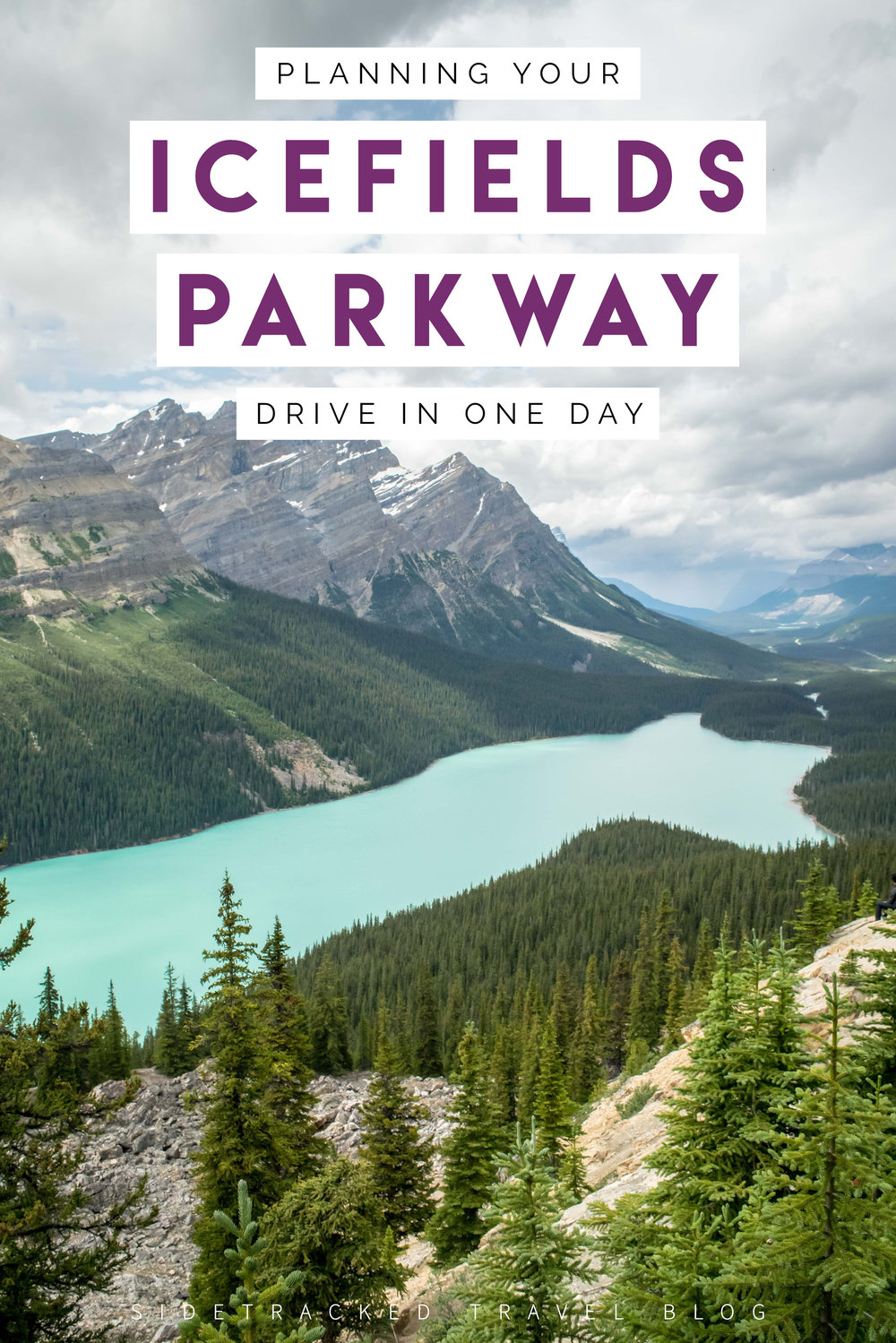 The Icefields Parkway, a 232 km driving tour through some of the most impressive landscapes in the Canadian Rocky Mountains, is a stunning introduction for those planning their first trip to this region of the world. To give you an idea of the main stops along the way, here is a handy guide on how you can spend one day touring the Icefields Parkway.