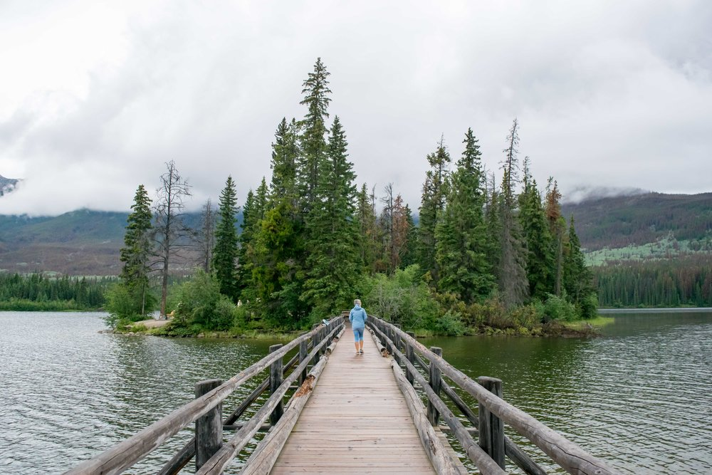 Bridge to Pyramid Lake, Alberta