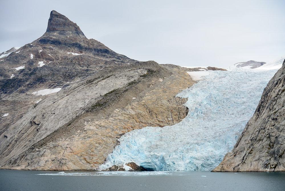 Glacier in Prince Christian Sound, Southern Greenland