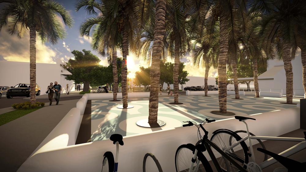 Ocean Plaza Rendering