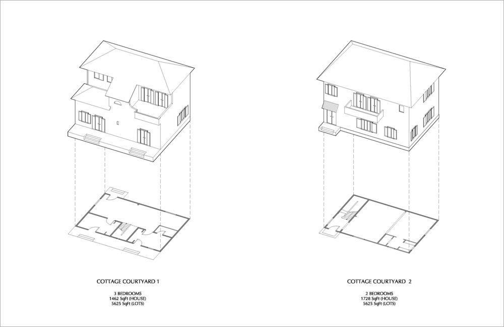 Proposed Cottage Typologies (designed by Juan Caruncho)