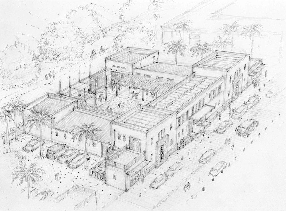 Center For Innovation and Social Entrepreneurship (Drawing By Chris Ritter)