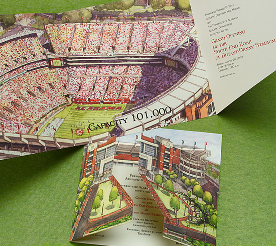 University of Alabama's Bryant Denny Stadium, expansion Grand Opening.