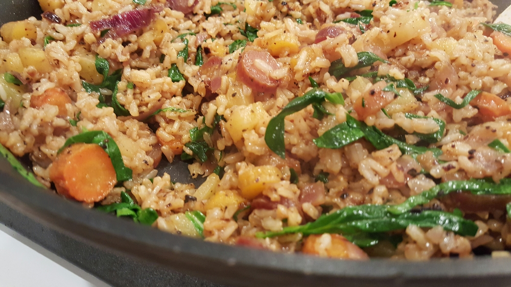 Sweet and spicy pilaf.