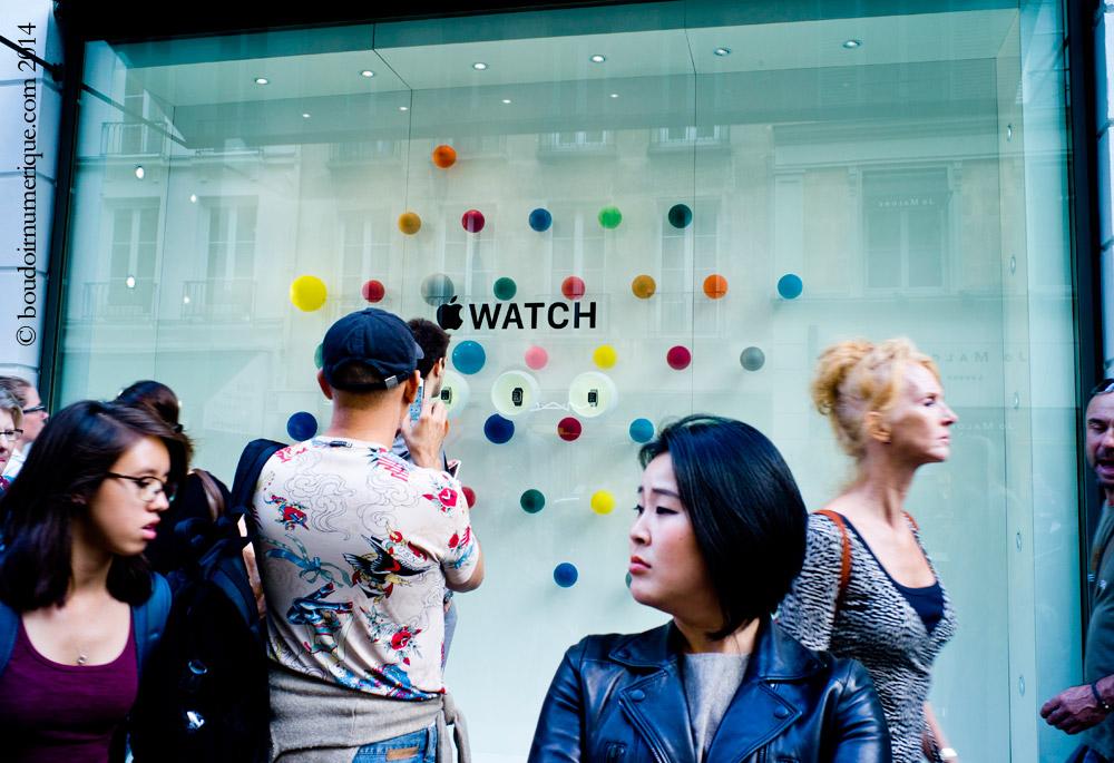30 septembre 2014, Paris : présentation de l'Apple Watch chez Colette