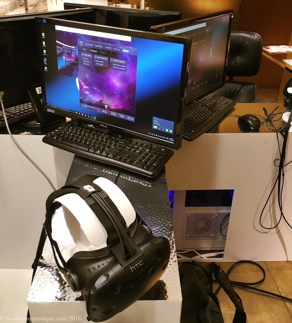 Installation de réalité virtuelle dans la boutique Guerlain des Champs-Elysées.