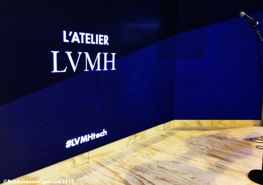 Espace LVMH sur le salon Vivatech 2017 (photo : Le Boudoir Numérique)