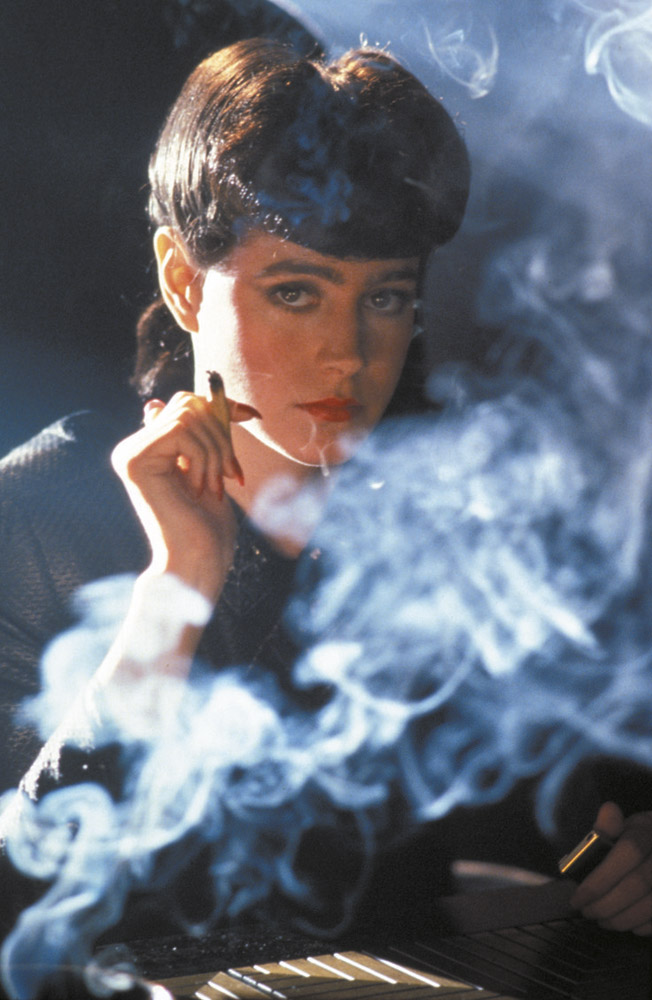 Sean Young is the replicant Rachael, in Ridley Scott's movie Blade Runner (1982)
