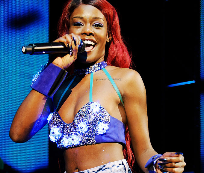 "British fashion tech laboratory Studio XO has created the ""Digital Mermaid Bra"" for American singer Azealia Banks, here in London on October 2, 2012, in the Shepherd's Bush Empire concert hall."