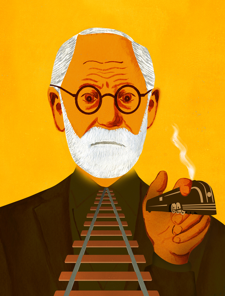 Sigmund Freud's Fear of Train Travel from Recipes for Good Luck published by Chronicle Books